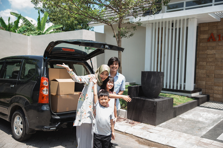 family ready to move to the new house