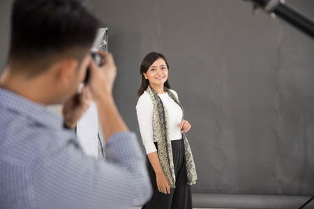 young photographer concept in studio
