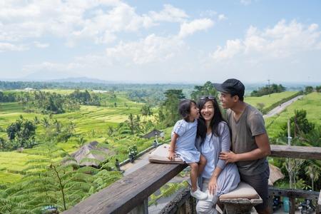 familievakantie genieten van tropisch eiland Stockfoto
