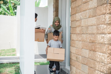 family ready to move to new house