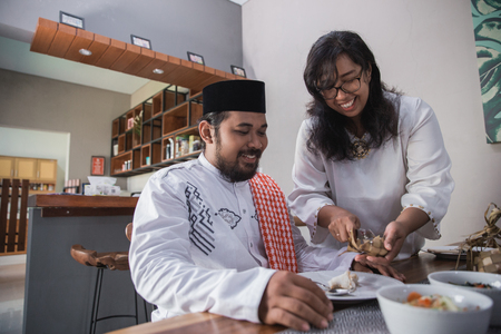 break fasting on ramadan Stockfoto