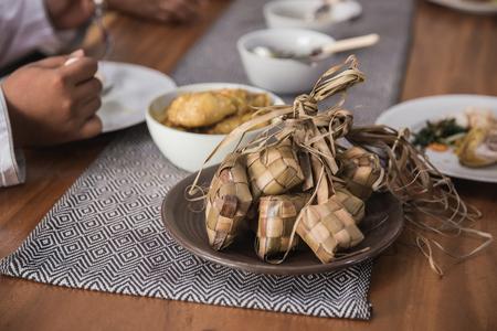 rijstwafel tijdens eid mubarak Stockfoto