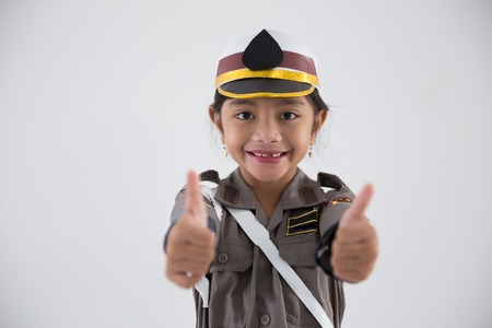 kid pretending to be police officer