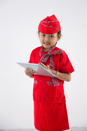 little kid profession to be flight attendant