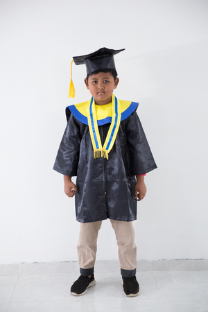 little boy graduation Stock Photo