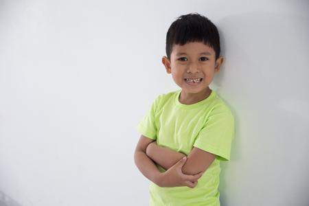 adorable little boy in studio