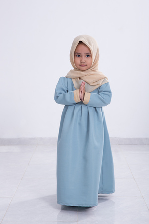 asian muslim little girl Stock Photo