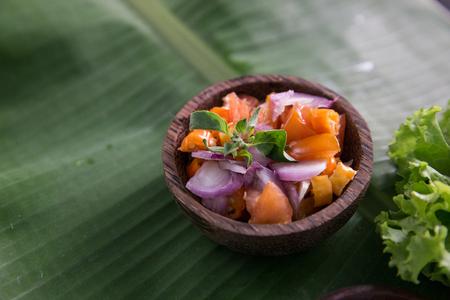traditional indonesian culinary food. sambal dabu dabu