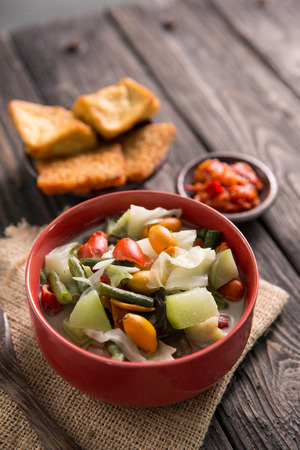 delicious of indonesian food, sayur lodeh. vegetarian cuisine Stock Photo