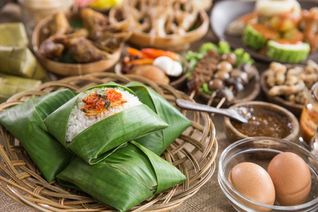 nasi angkringan or nasi kucing. indonesian traditional food from central java