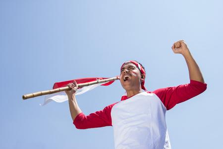 Indonesische viering van de onafhankelijkheidsdag Stockfoto