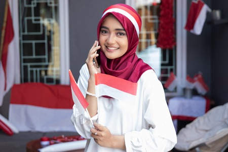 using phone during indonesia independence day