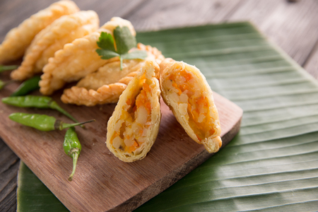 traditional indonesian dishes pastel Stok Fotoğraf