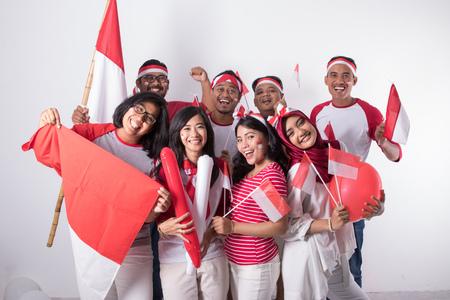 célébrant la fête de l'indépendance nationale Banque d'images