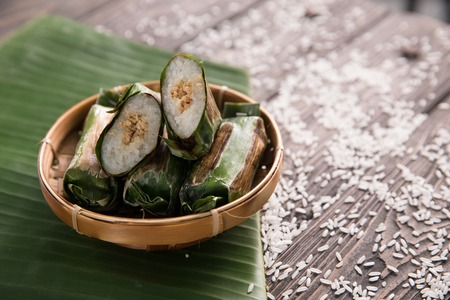 traditional indonesian dishes lemper Stock Photo