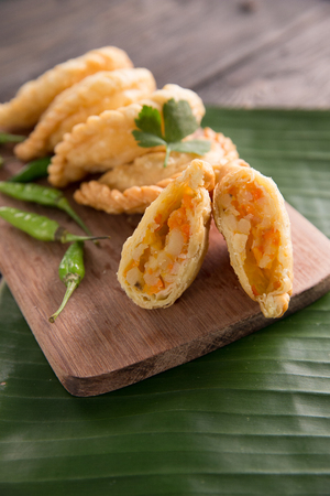 traditional indonesian dishes pastel Stock Photo