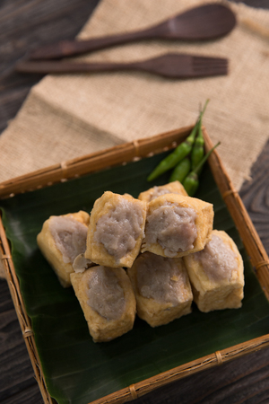 traditional indonesian dishes tahu bakso Stock Photo