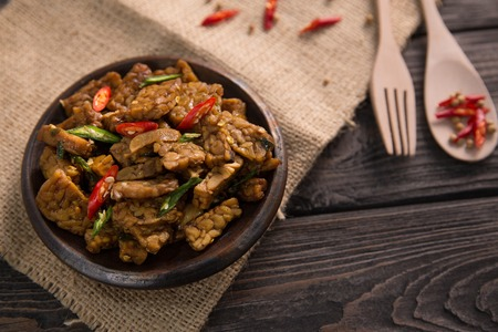 traditional indonesian dishes oseng tempe Stock Photo