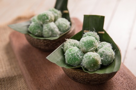 delicious klepon traditional indonesian culinary Stock Photo