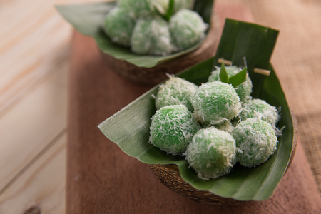 indonesian traditional culinary. klepon