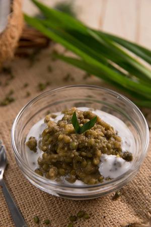 bubur kacang hijau or mung beans porridge 写真素材
