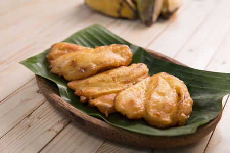 indonesian traditional fried banana Banco de Imagens
