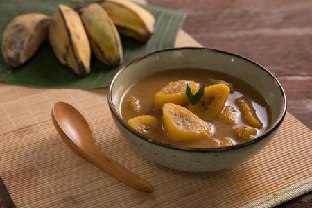 indonesian traditional culinary kolak pisang Stock Photo