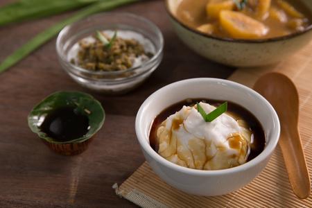 bubur sumsum. indonesische traditionelle kulinarische Standard-Bild