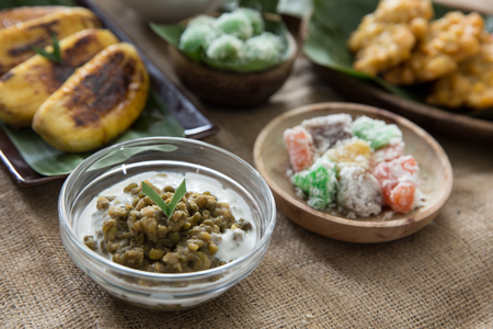 set of indonesian traditional culinary. javanese food