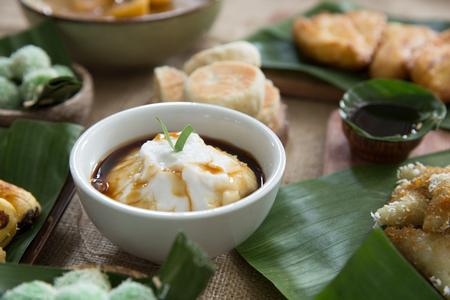 delicious indonesian style porridge. bubur sumsum 写真素材