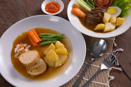indonesian galantine food Stock Photo