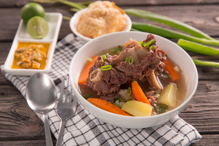 sop buntut or oxtail soup Stock Photo
