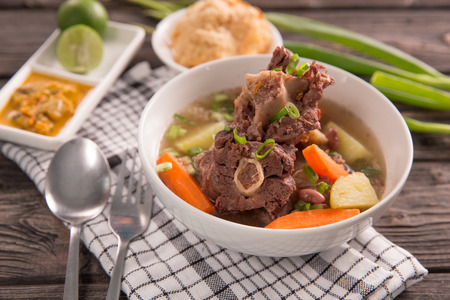 sop buntut or oxtail soup Stockfoto