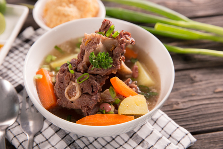 sop buntut or oxtail soup 版權商用圖片