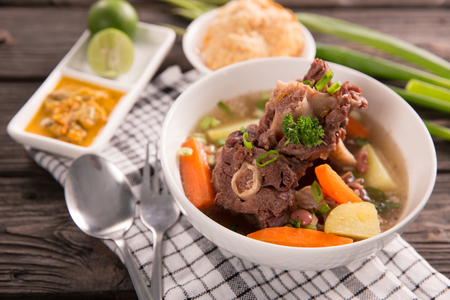 sop buntut or oxtail soup 写真素材