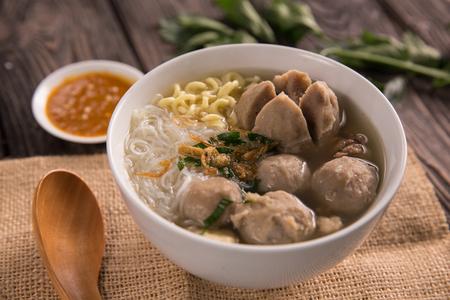 bakso. indonesian meatball Standard-Bild