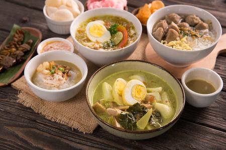 indonesisches traditionelles Essen Standard-Bild