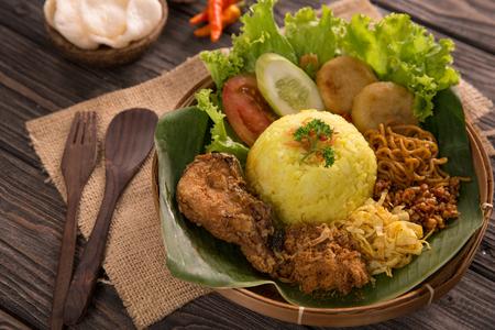 nasi kuning. indonesian yellow rice