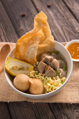 bakso. indonesian beef meatball Stock Photo