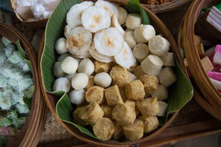 fried casava and tiwul Stock Photo - 105659313