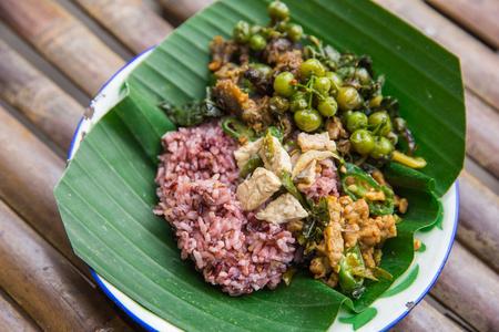 red or brown rice traditional javanese  food