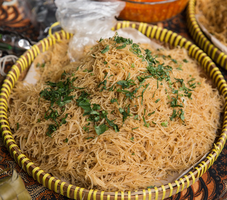 bihun goreng in traditional street food Stock Photo