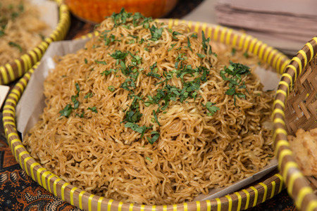 mie goreng in traditional street food Stock Photo