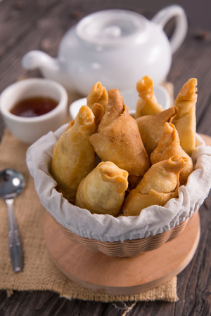pisang molen. fried banana wrap indonesian traditional food Stock Photo - 105707405