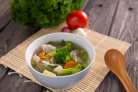 sayur sop or vegetable soup