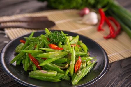 oseng buncis. stir fry bean indonesian delicacy