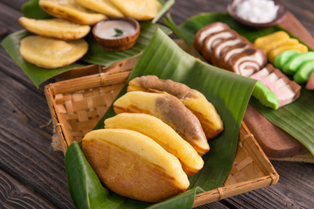 pukis snack. indonesian street food