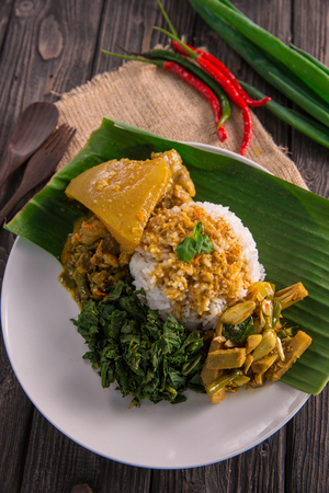 nasi padang indonesian food Stock Photo - 105935773