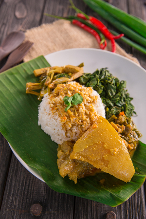 nasi padang indonesian food Stock Photo - 105935776
