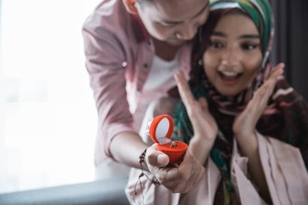 muslim woman get a ring